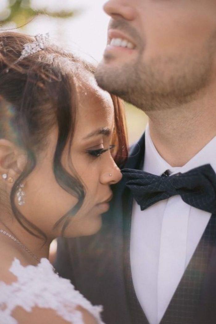 closeup noivos romanticos