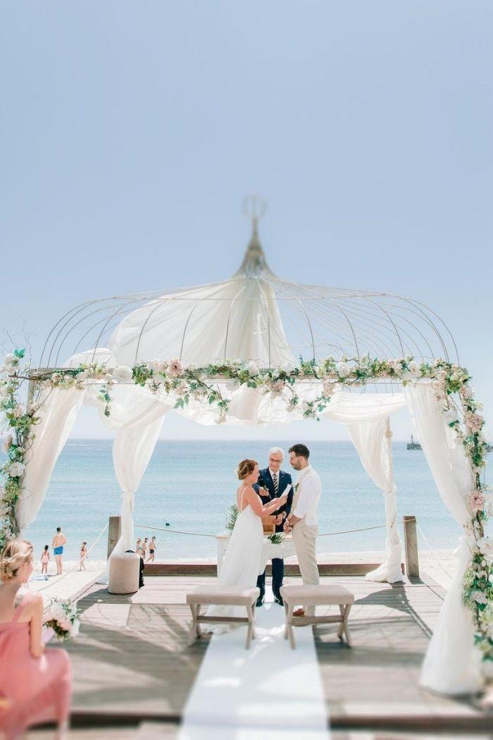 cerimónia de casamento na praia