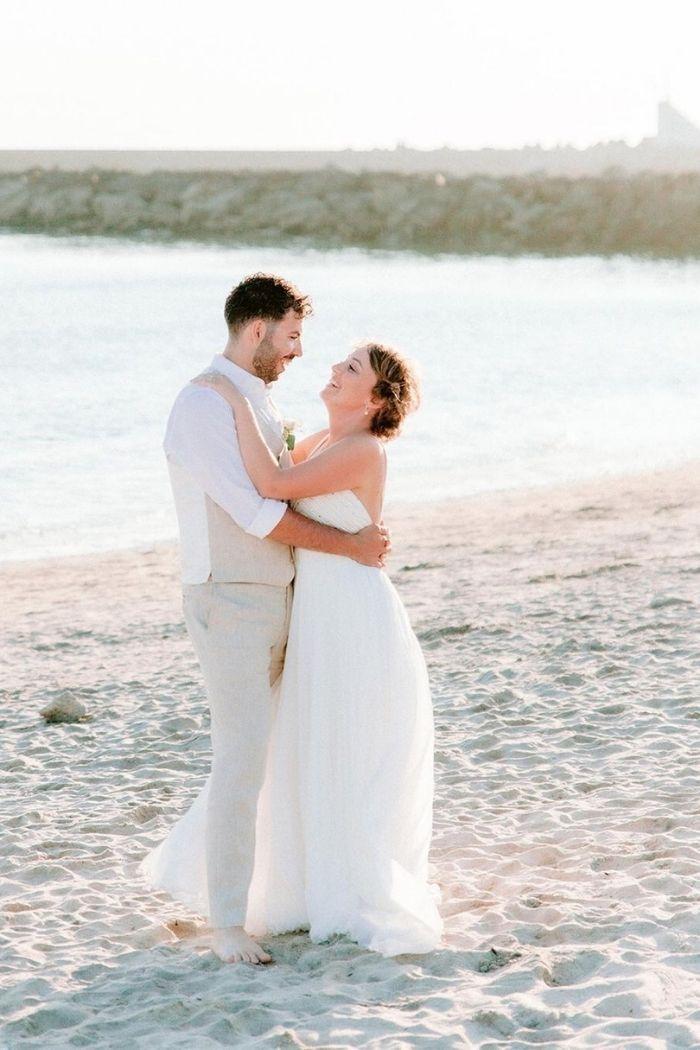 noivos casamento na praia