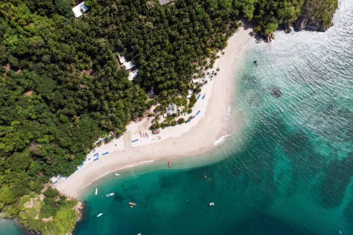 vista satélite praia costa rica