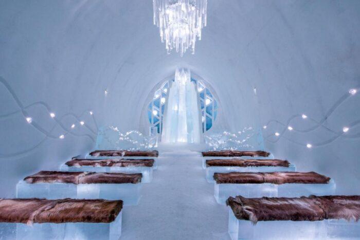locais incríveis no mundo para casar icehotel