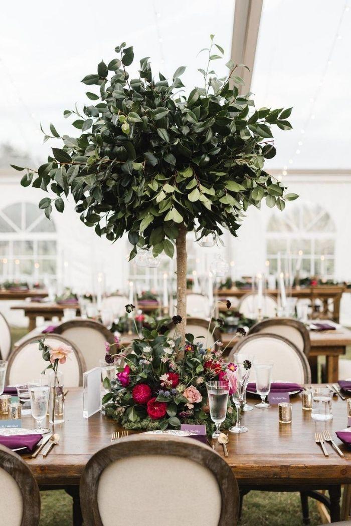 centros de mesa casamento árvores