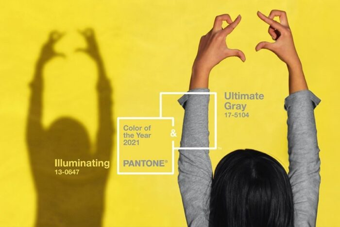cores Pantone 2021 illuminating yellow e ultimate gray