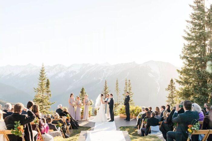 Casamentos em Aspen cenário montanhoso deslumbrante