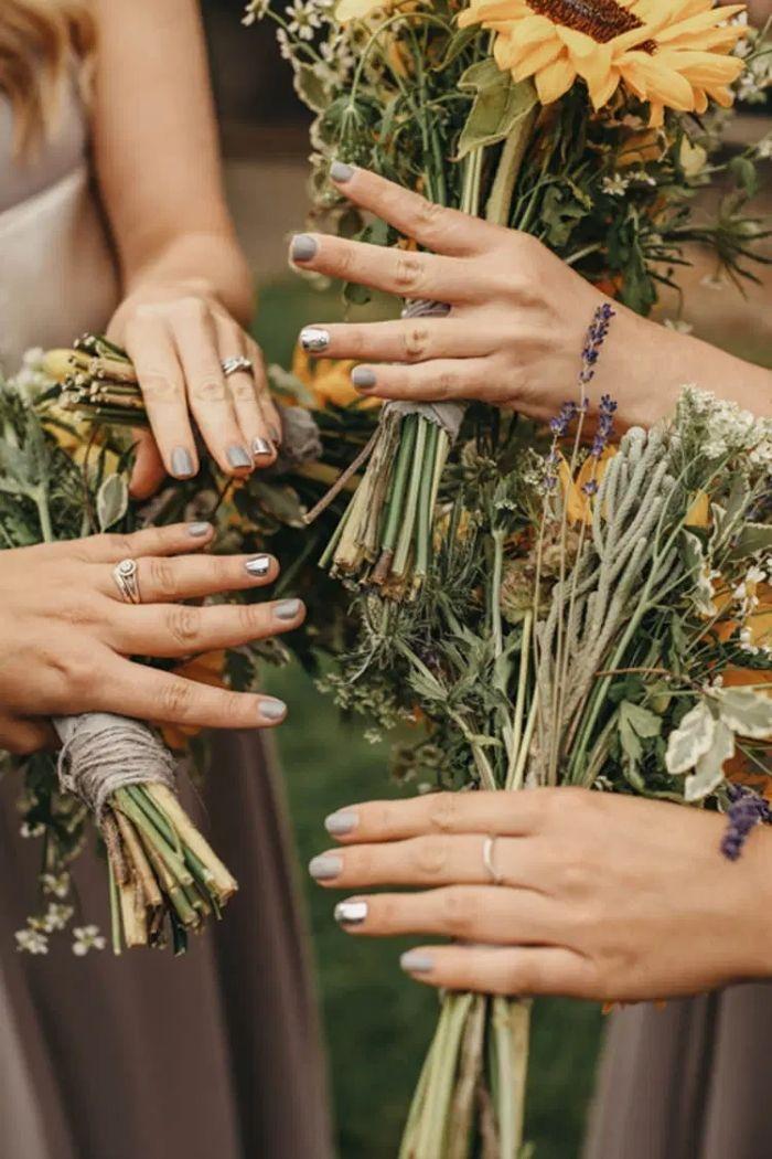 unhas cinzentas damas de honor casamento HAJLEY PHOTOGRAPHY