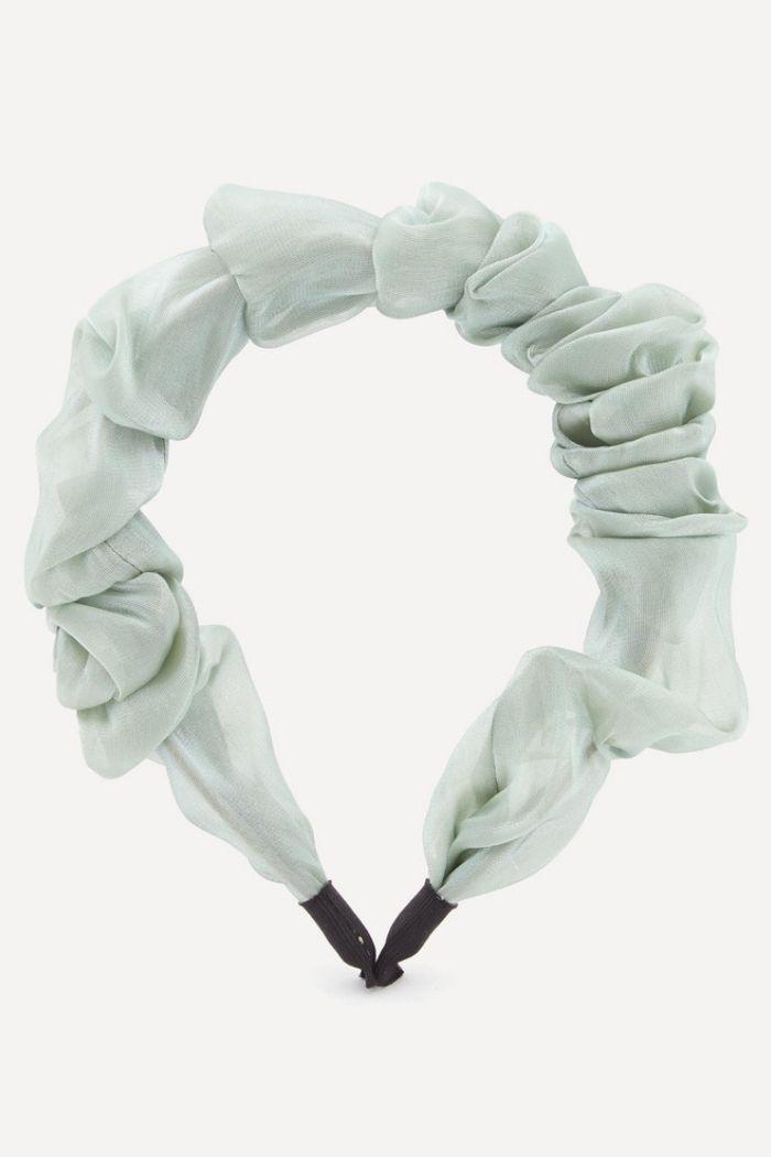 Valet Organza Ruffled Headband