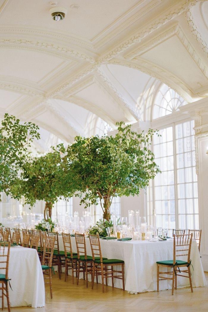 centro de mesa casamento árvores