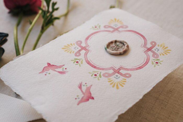 convite de casamento a pajarita