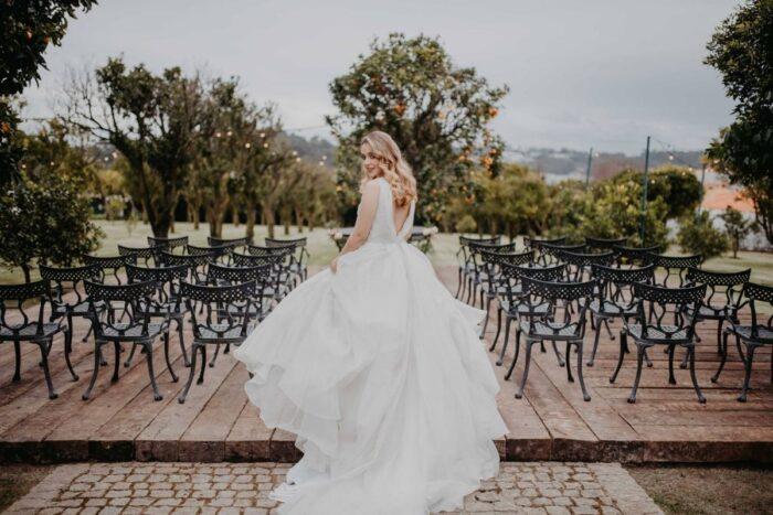 noiva casamento civil no campo