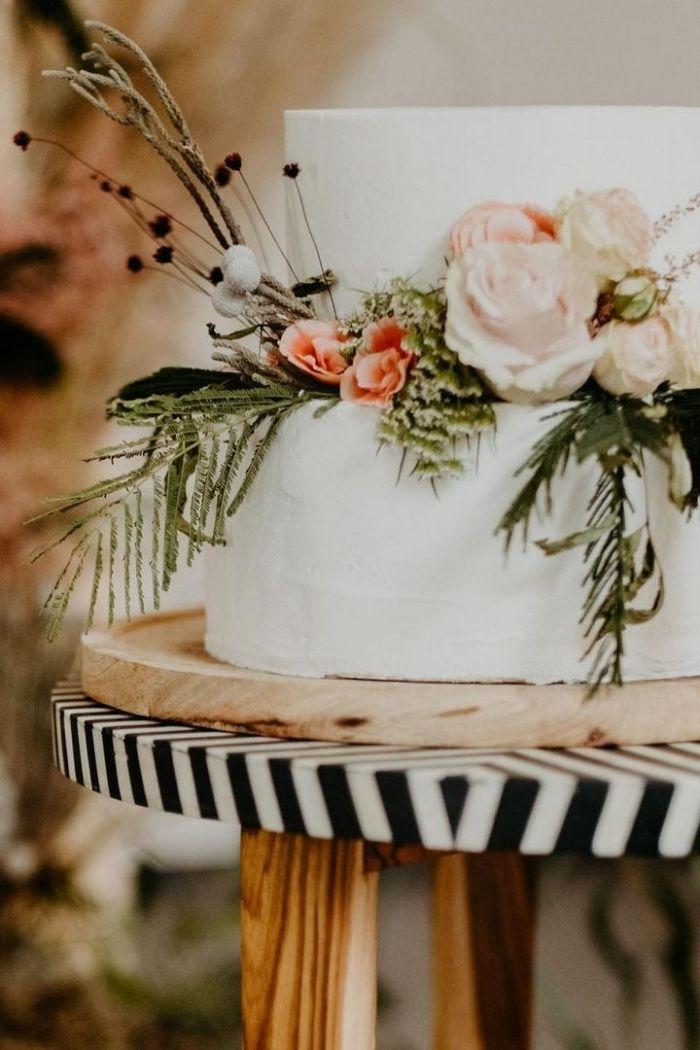 bolo de casamento flores