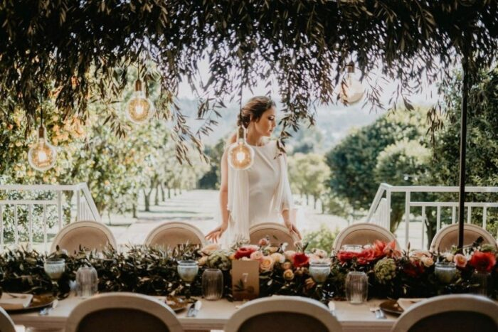 quinta da quintã noiva com mesa verde natureza design